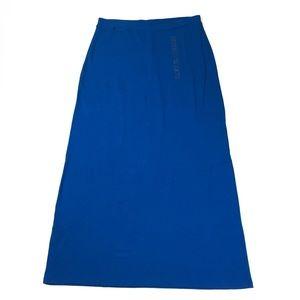 Jones New York Sport Blue Maxi Skirt